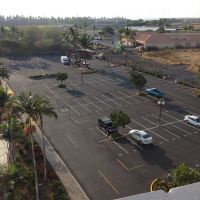 brand new asphalt parking lot, painting and sealcoat